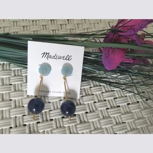 Madewell Two Tone Blue Drop Earrings New